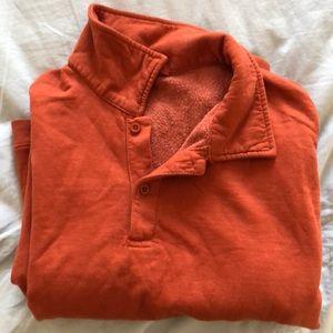 Brandy Melville Sweaters - Brandy Melville Orange Collar Crewneck